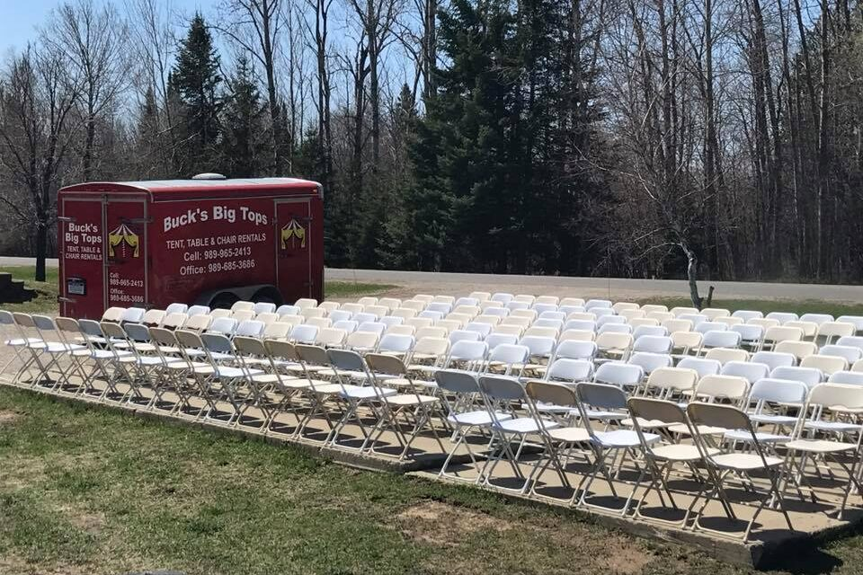 White Metal Ceremony Chairs